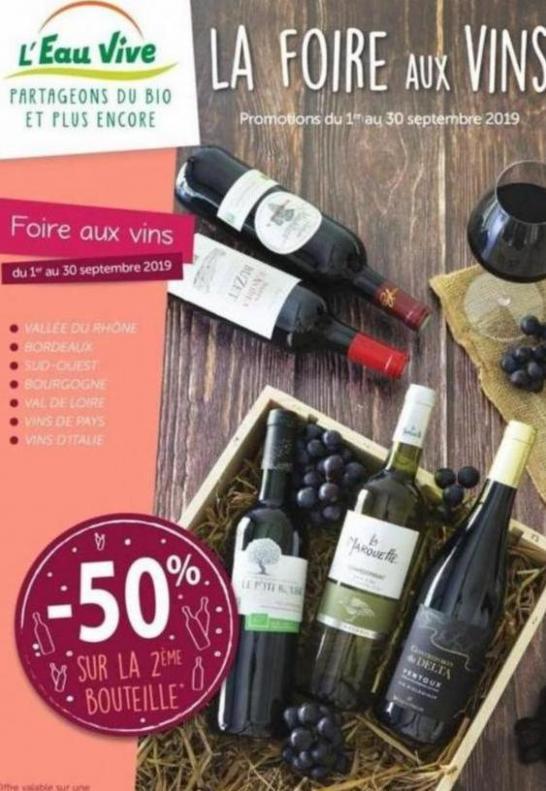La foire aux vins  . L'Eau Vive (2019-09-30-2019-09-30)