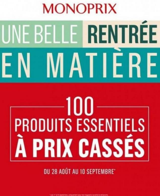 Une belle rentrée en Matière . Monoprix (2019-09-10-2019-09-10)