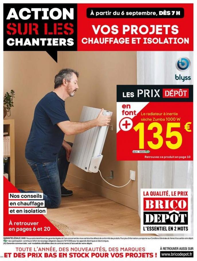 Vos projets chauffage et isolation . Brico Dépôt (2019-09-26-2019-09-26)