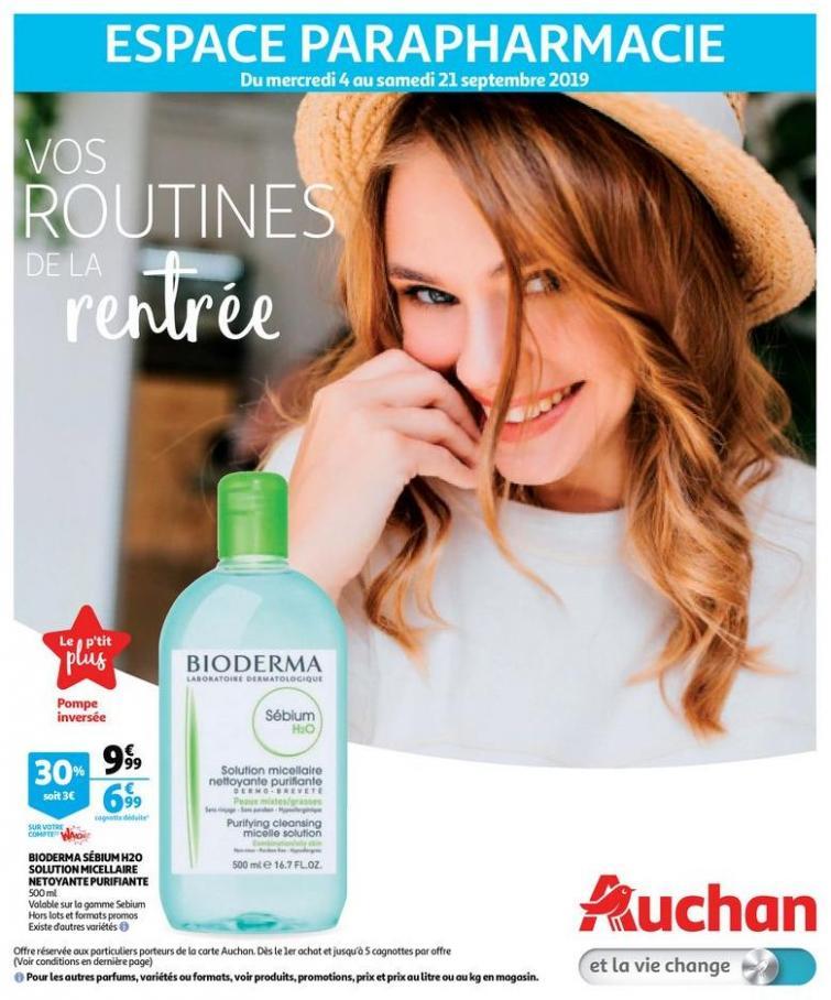 Vos routines de la rentrée  . Auchan Drive (2019-09-21-2019-09-21)