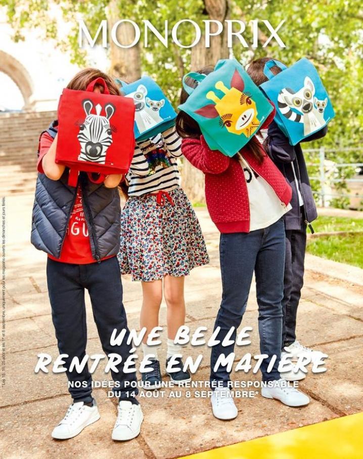 Une belle rentrée en Matière . Monoprix (2019-09-08-2019-09-08)