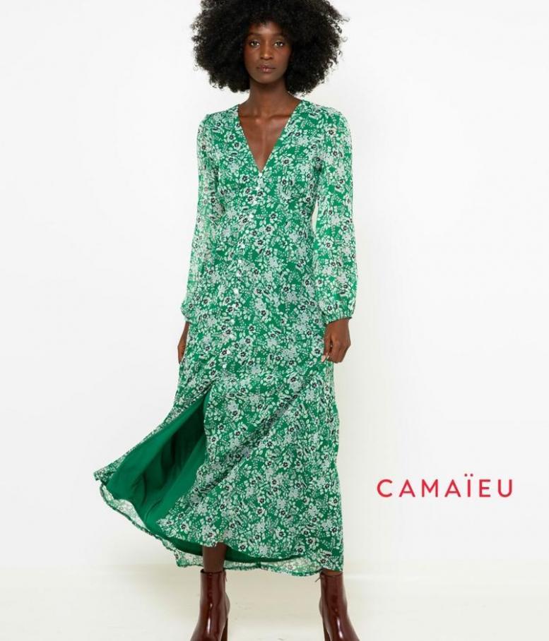 Green Flowers . Camaieu (2019-12-01-2019-12-01)