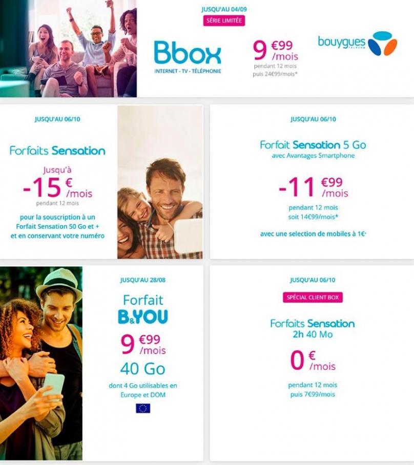 Offres Bouygues Telecom . Bouygues Telecom (2019-10-06-2019-10-06)