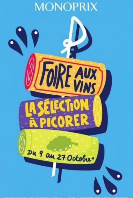 Foire aux Vins . Monoprix (2019-10-27-2019-10-27)