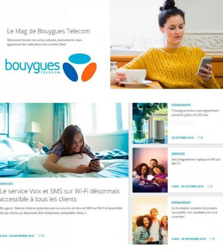 Offres Bouygues Telecom . Bouygues Telecom (2019-11-18-2019-11-18)