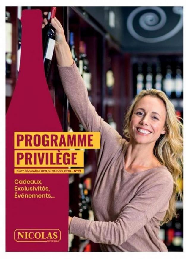 Programme Privilège . Nicolas (2020-03-31-2020-03-31)
