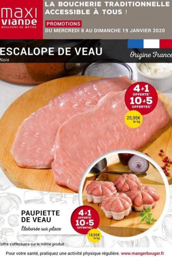 La boucherie traditionnelle accessible à tous! . Maxi Viande (2020-01-19-2020-01-19)