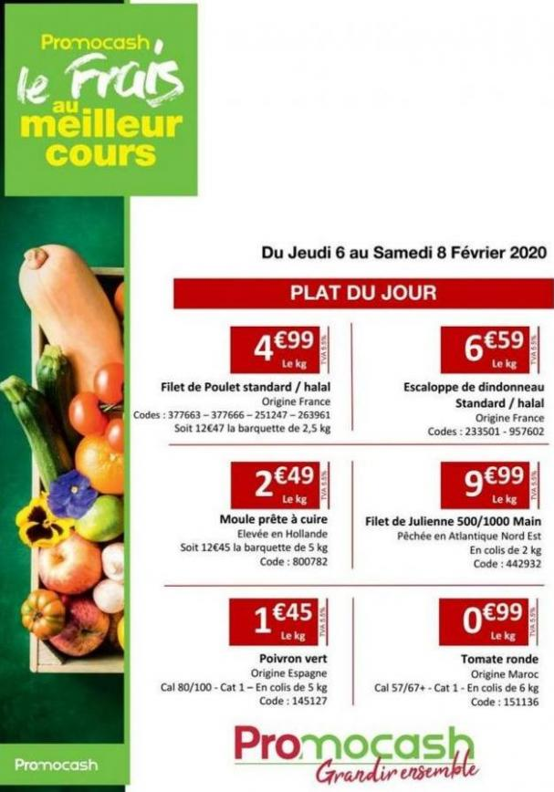 Exigence prix semaine 06 . Promocash (2020-02-08-2020-02-08)