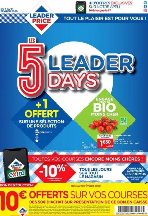Les 5 Leader Days . Leader Price (2020-02-09-2020-02-09)