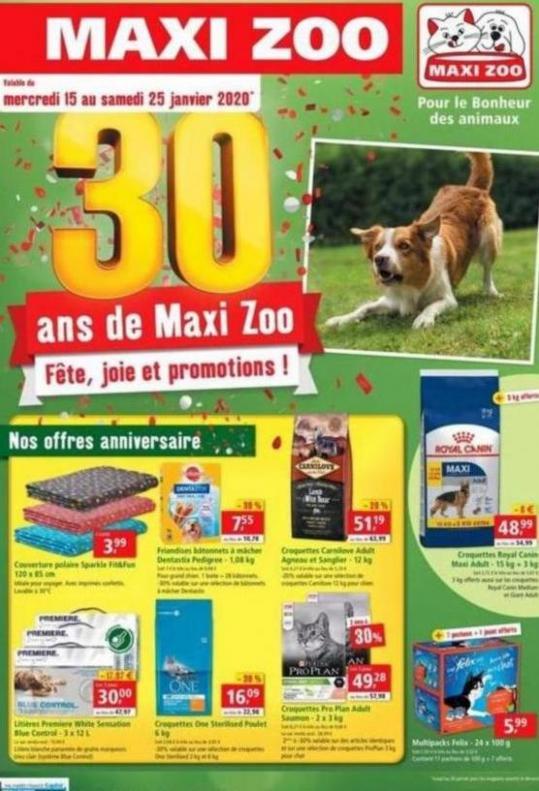DES PROMOS ANNIVERSAIRE ! . Maxi Zoo (2020-02-15-2020-02-15)
