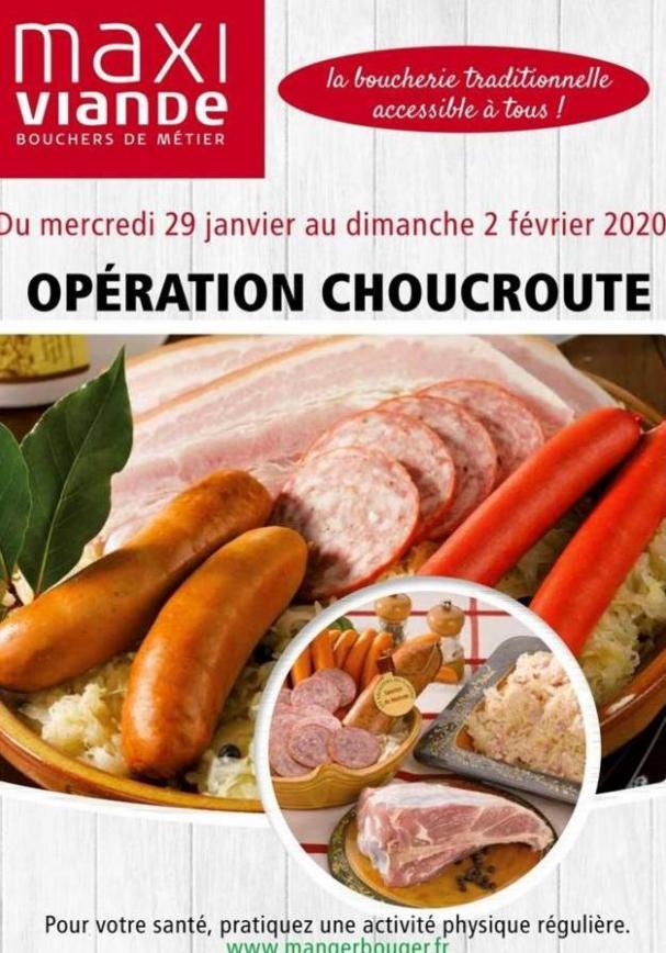 Opération choucroute  . Maxi Viande (2020-02-02-2020-02-02)