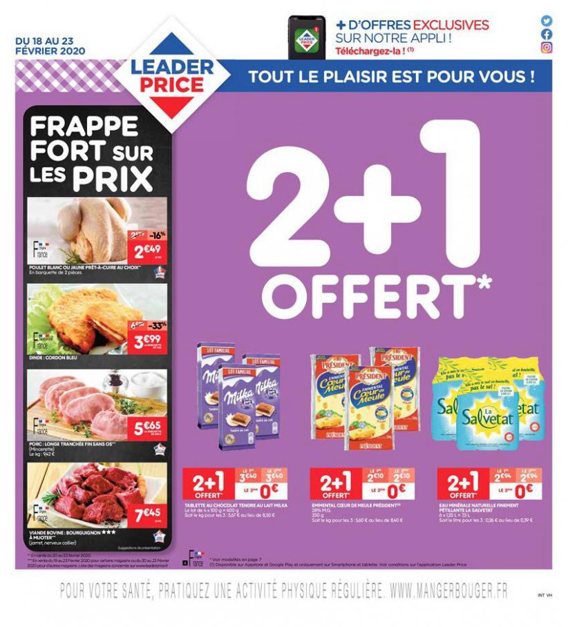 2+1 Offert . Leader Price (2020-02-23-2020-02-23)