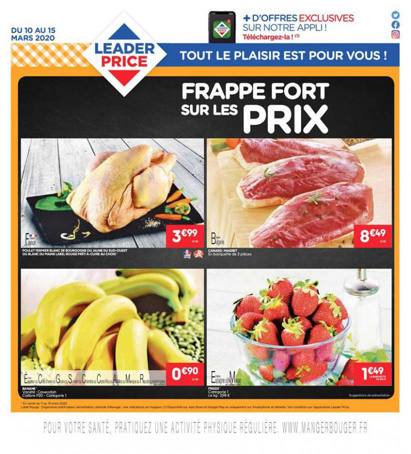 Frappe Fort sur les Prix . Leader Price (2020-03-15-2020-03-15)