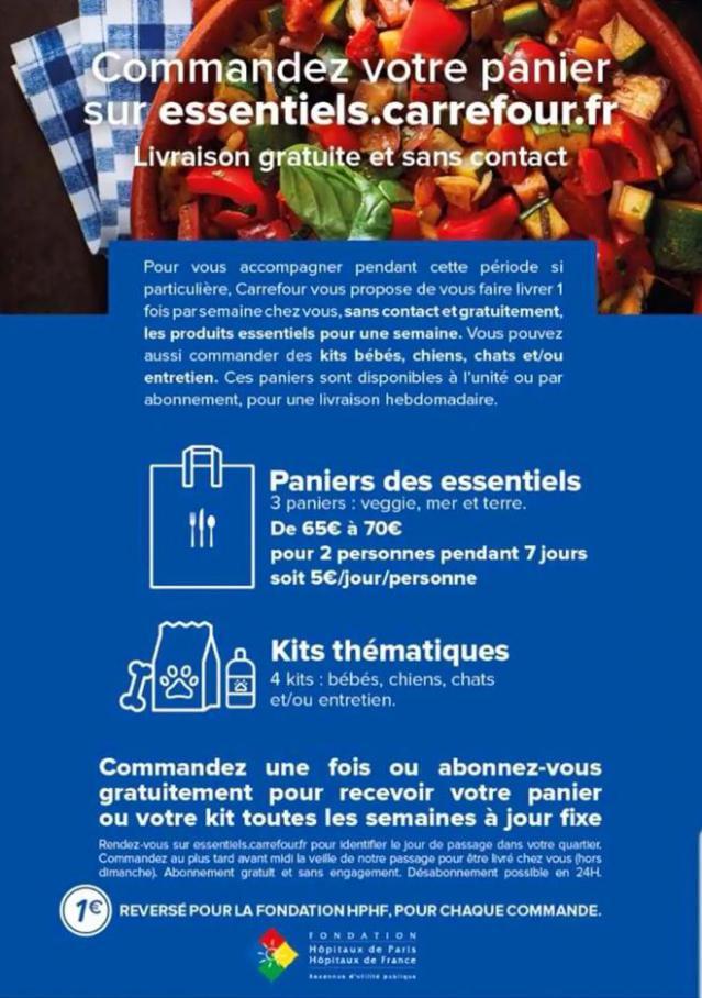Comandez votre panier sur essentiels.carrefour.fr. Livraison Gratuite et sans contact . Carrefour Contact (2020-04-03-2020-04-03)