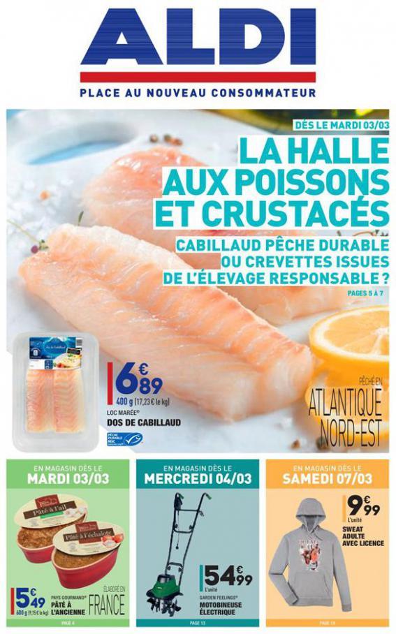 La halle aux poissons et crustacés . Aldi (2020-03-09-2020-03-09)