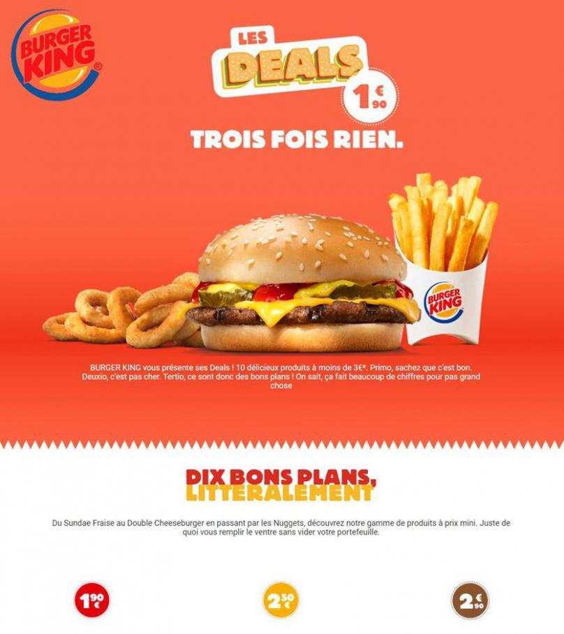 Les Deals Burger King . Burger King (2020-03-15-2020-03-15)