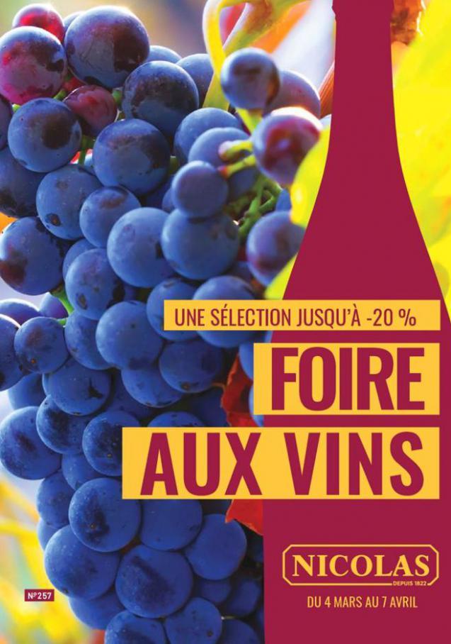 Foire aux vins  . Nicolas (2020-04-07-2020-04-07)
