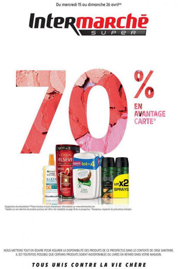 70% en Avantage carte . Intermarché (2020-04-26-2020-04-26)