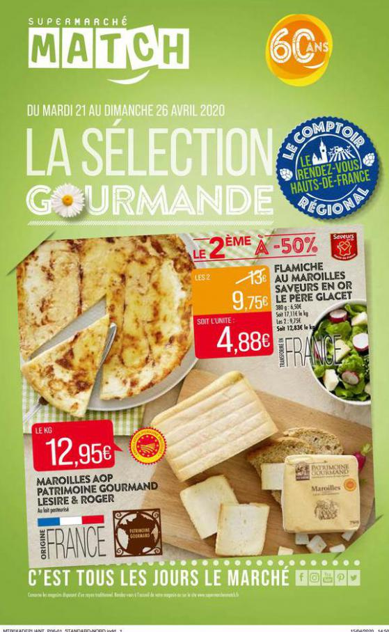 La sélection gourmande . Match (2020-04-26-2020-04-26)