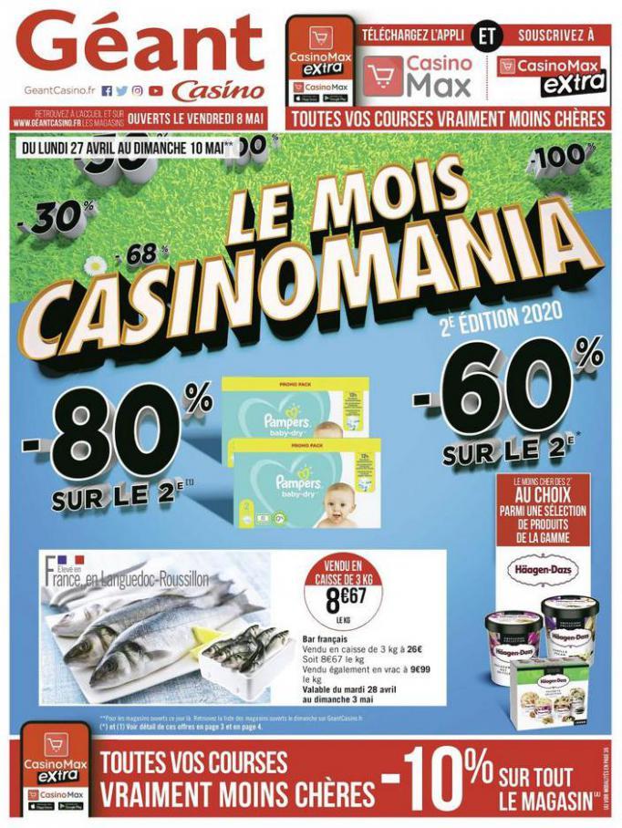Le mois Casinomania . Géant Casino (2020-05-10-2020-05-10)
