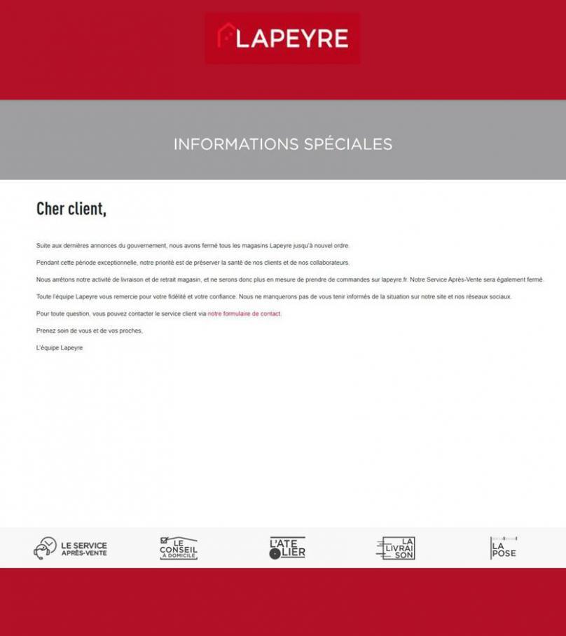Informations Spéciales . Lapeyre (2020-04-19-2020-04-19)