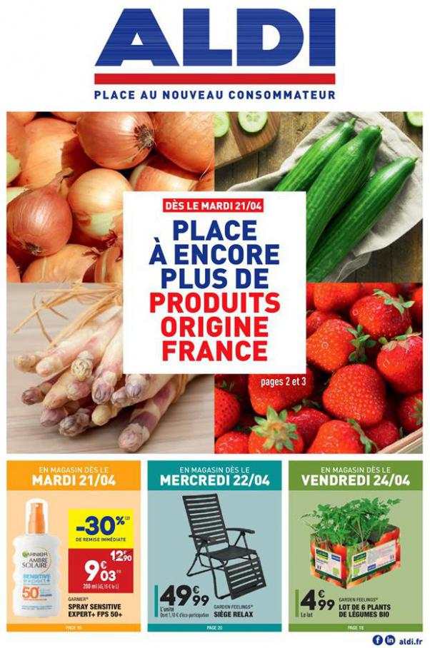 Les produits FRAIS et FRANÇAIS à la UNE ! . Aldi (2020-04-27-2020-04-27)