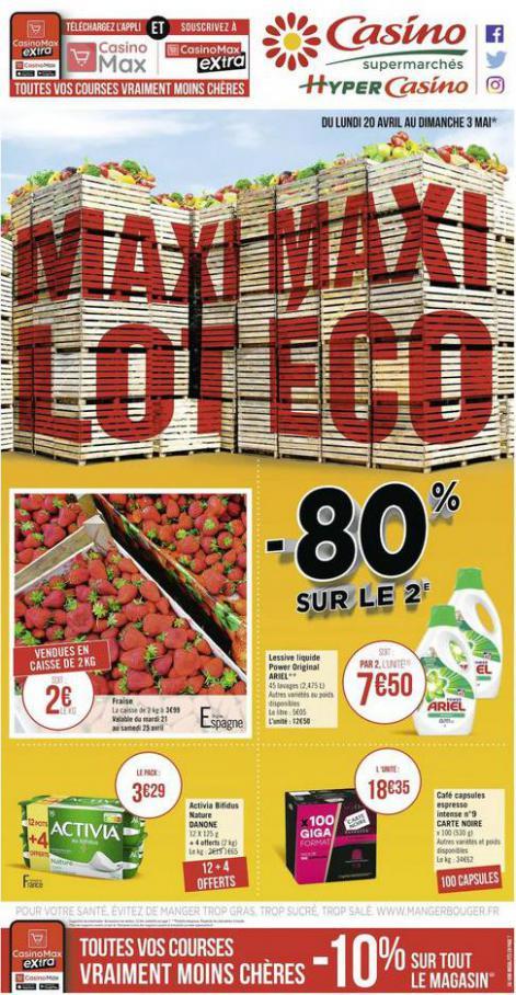 Maxi lot Maxi éco . Casino Supermarchés (2020-05-03-2020-05-03)