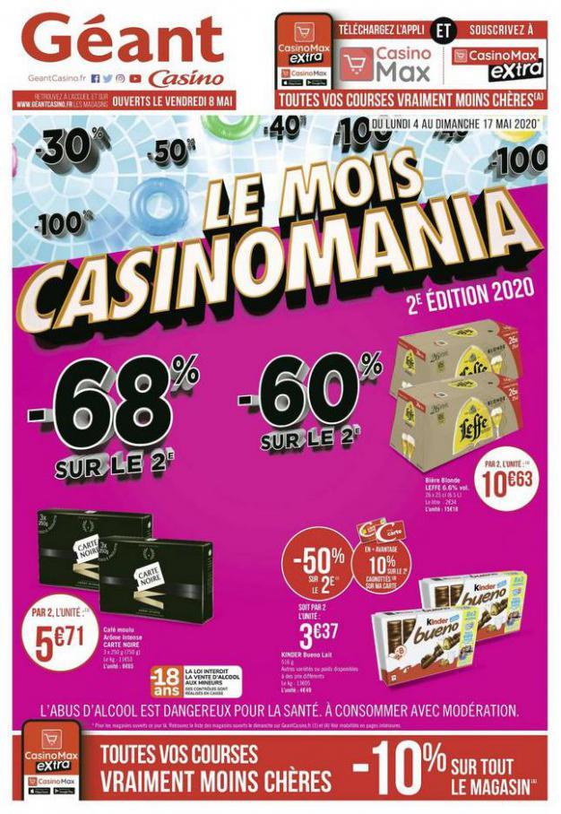 Le mois Casinomania . Géant Casino (2020-05-17-2020-05-17)