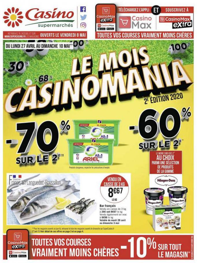 Le mois Casinomania . Casino Supermarchés (2020-05-10-2020-05-10)