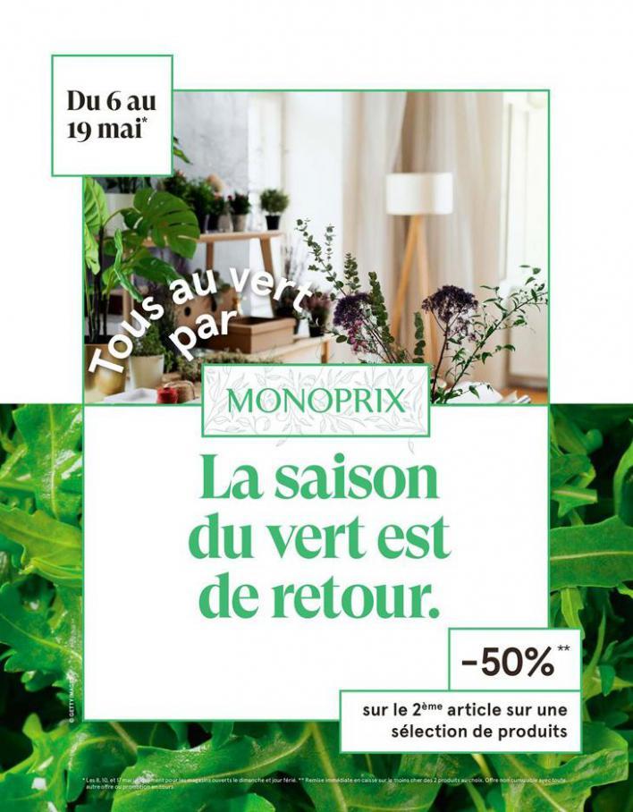 Tous au vert par Monoprix  . Monoprix (2020-05-19-2020-05-19)