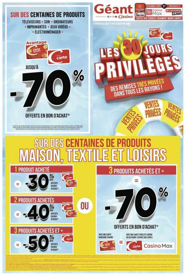 Les 30 jours privilèges . Géant Casino (2020-06-30-2020-06-30)