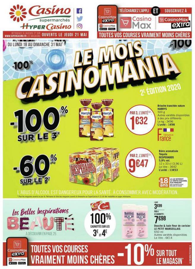 Le mois Casinomania . Casino Supermarchés (2020-05-31-2020-05-31)