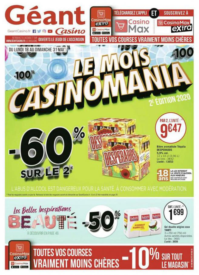 Le mois Casinomania . Géant Casino (2020-05-31-2020-05-31)