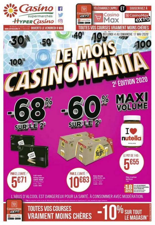Le mois Casinomania . Casino Supermarchés (2020-05-17-2020-05-17)