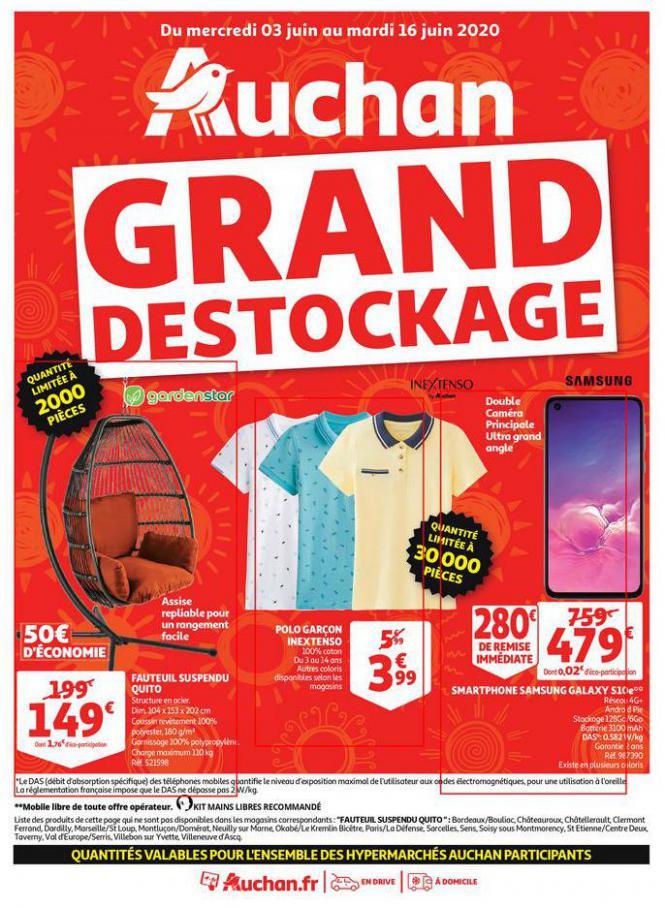 Grand déstockage . Auchan (2020-06-16-2020-06-16)