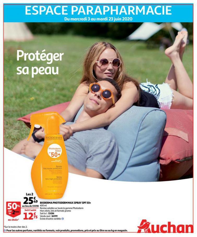 Protéger sa peau  . Auchan (2020-06-23-2020-06-23)