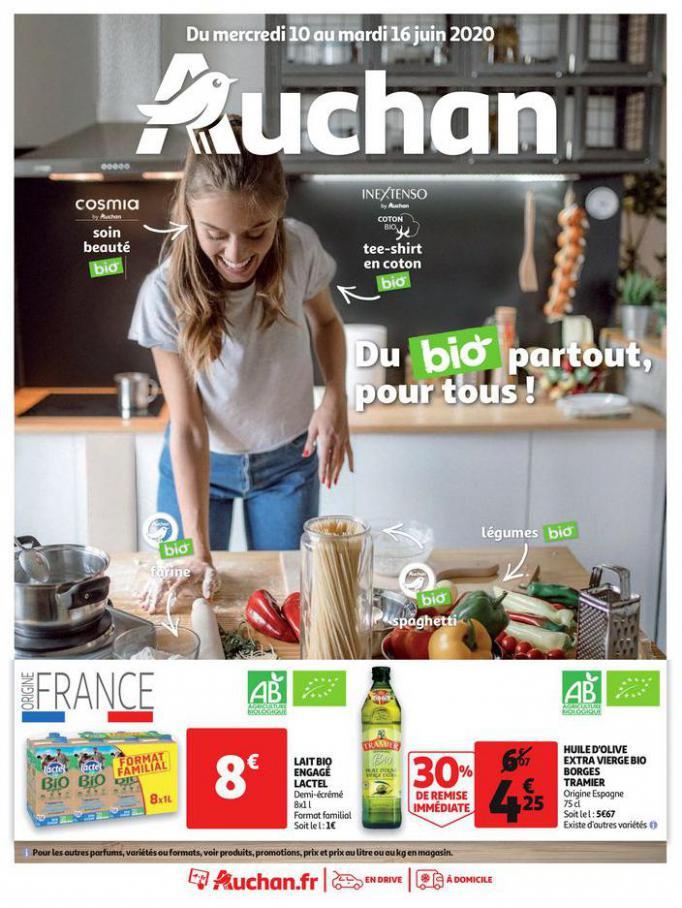 Du bio partout, pour tous !  . Auchan (2020-06-16-2020-06-16)