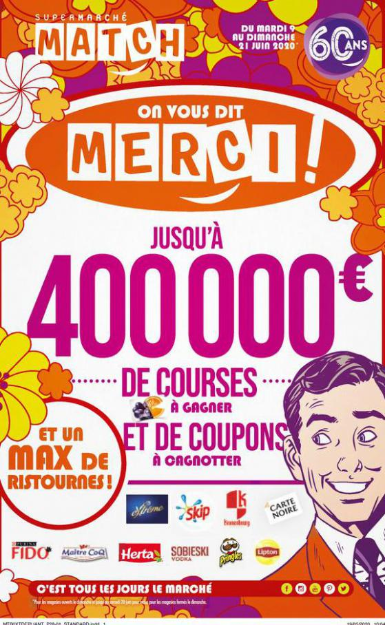 On vous dit merci ! . Match (2020-06-21-2020-06-21)