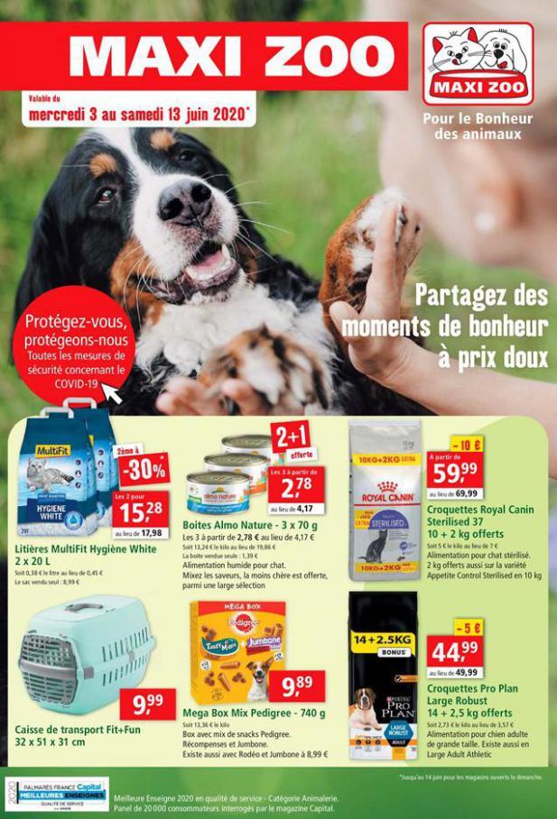 Partagez des moments de bonheur à prix doux . Maxi Zoo (2020-06-13-2020-06-13)