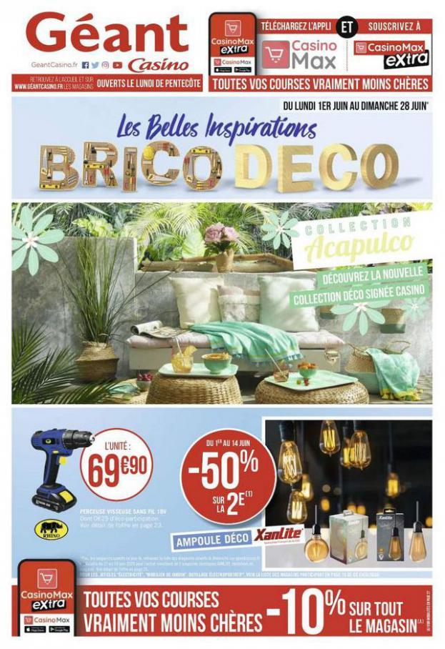 Les belles inspirations brico deco . Géant Casino (2020-06-28-2020-06-28)