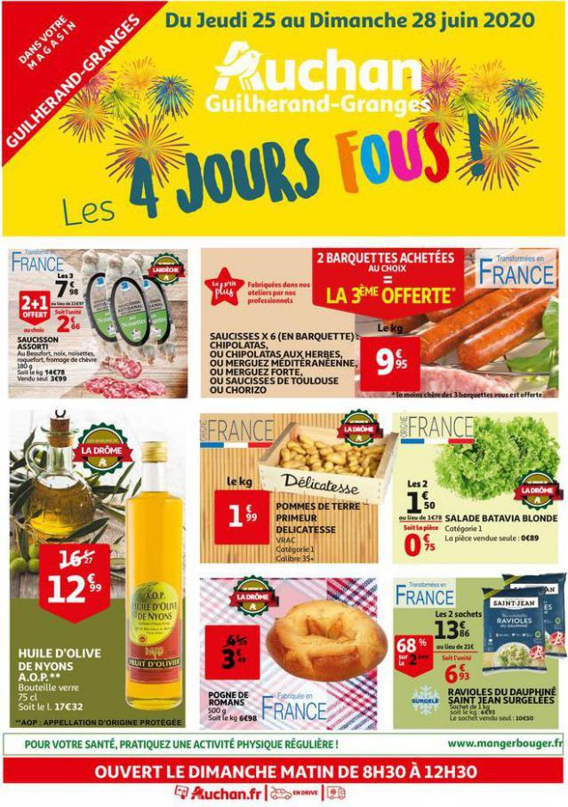Les 4 jours fous  . Auchan Direct (2020-06-28-2020-06-28)