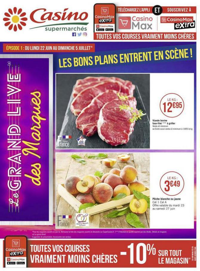 Les bons plans entrent en scène ! . Casino Supermarchés (2020-07-05-2020-07-05)