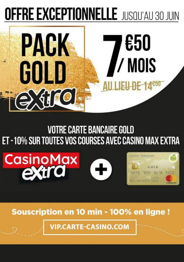 Pack gold extra . Casino Supermarchés (2020-06-30-2020-06-30)