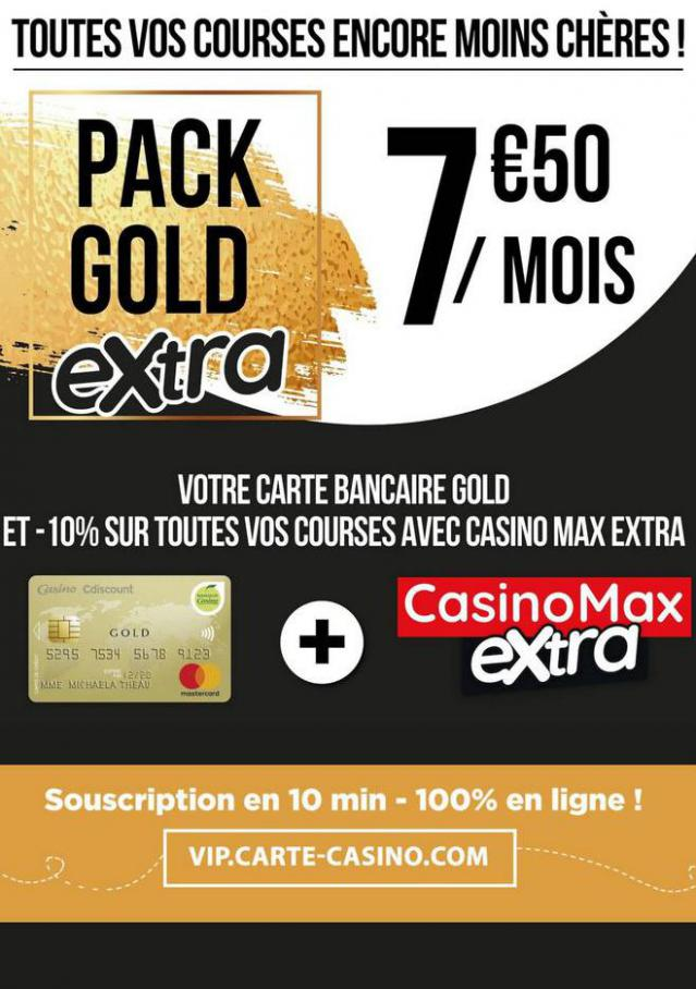 Pack gold extra . Casino Supermarchés (2020-07-31-2020-07-31)