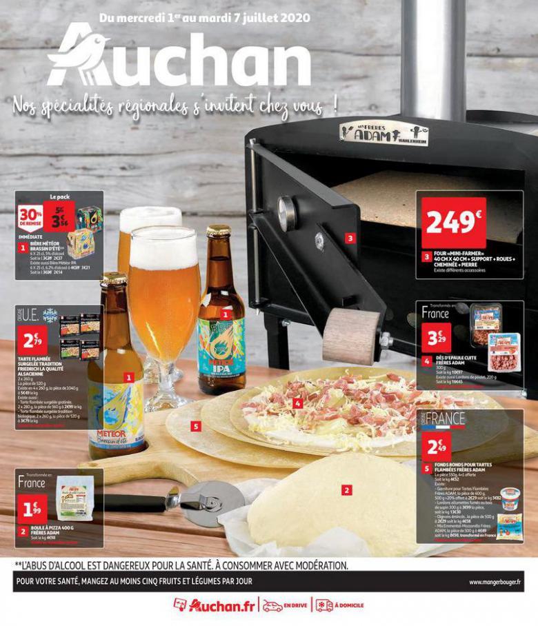 TARTES FLAMBÉES ET GRILLADES . Auchan Direct (2020-07-07-2020-07-07)