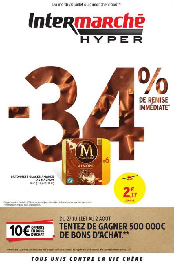 -34% DE REMISE IMMEDIATE . Intermarché Hyper (2020-08-09-2020-08-09)