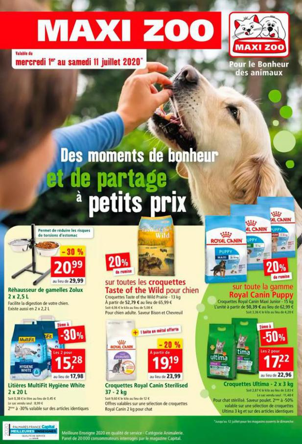 Offres Maxi Zoo . Maxi Zoo (2020-07-11-2020-07-11)
