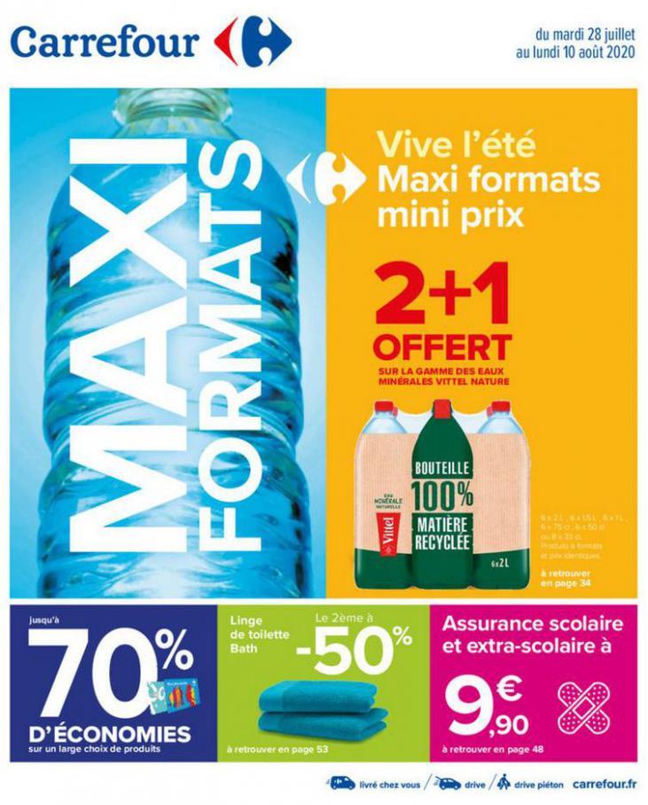VIVE L'ÉTÉ MAXI FORMATS MINI PRIX   . Carrefour (2020-08-10-2020-08-10)