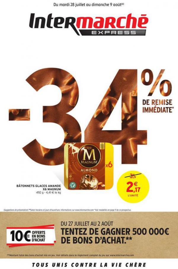 -34% DE REMISE IMMEDIATE . Intermarché Express (2020-08-09-2020-08-09)