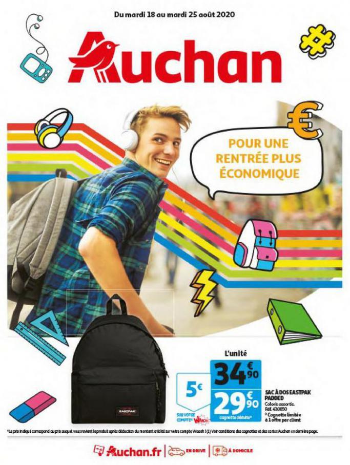 Une rentrée plus économique . Auchan (2020-08-25-2020-08-25)